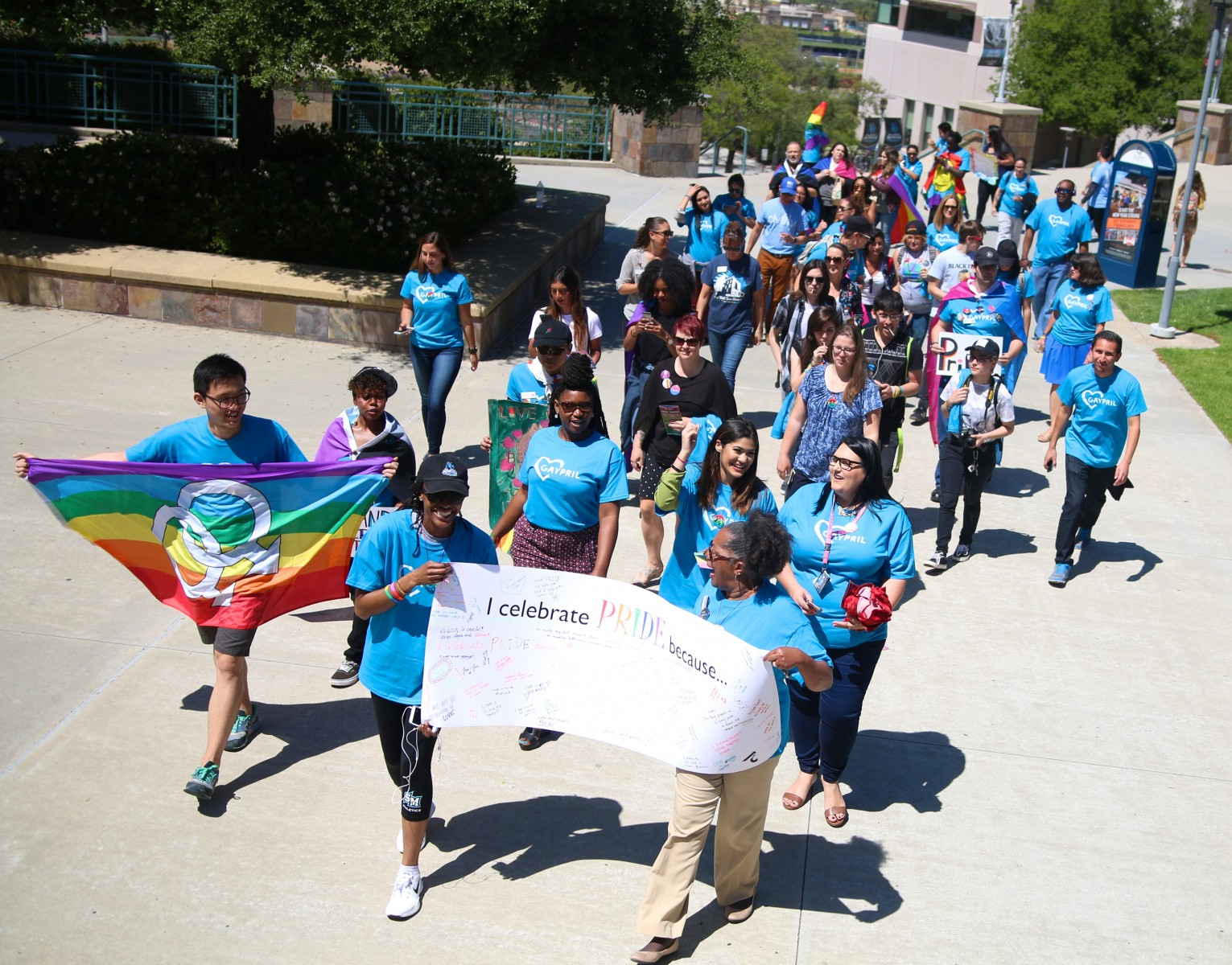 Campus Pride Walk during gAypril