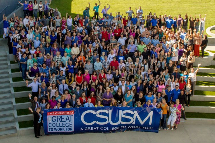 "CSUSM Named ""A Great College to Work For"" by The Chronicle"