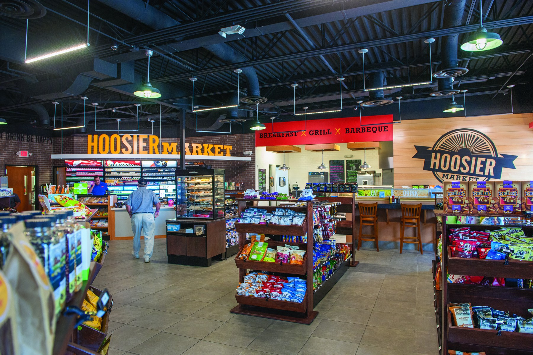 Interior of Hoosier Market, a Marathon-brand station