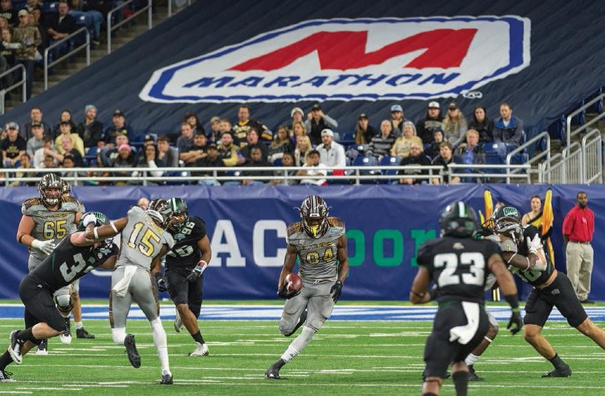 The Western Michigan University Broncos held off the Ohio University Bobcats to win the 2016 Marathon MAC Football Championship.