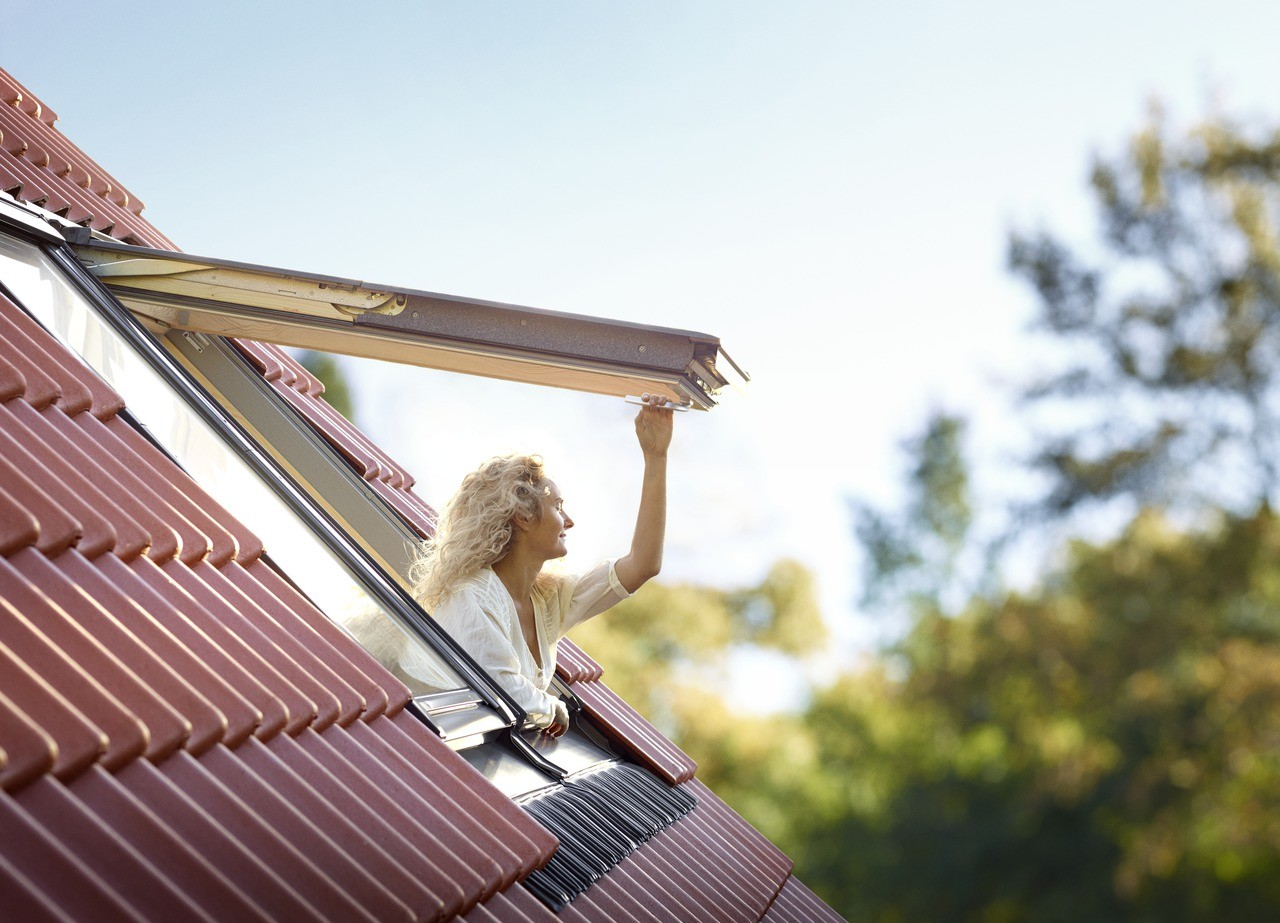 reduce co2 emissions with a velux roof window. Black Bedroom Furniture Sets. Home Design Ideas