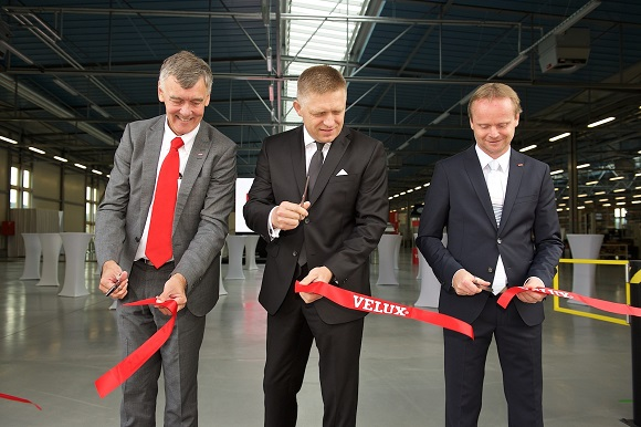 Factory inauguration by former CEO Jørgen Tang-Jensen, Prime Minister of Slovakia Robert Fico, Factory Manager Jurj Michalik
