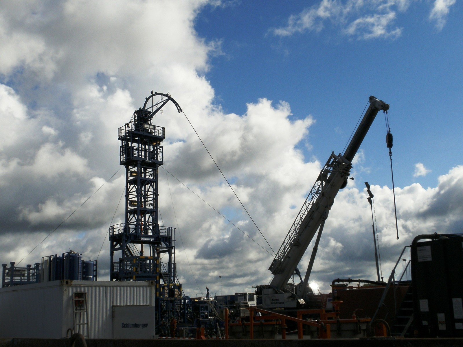 Fracking at Shale Gas plant