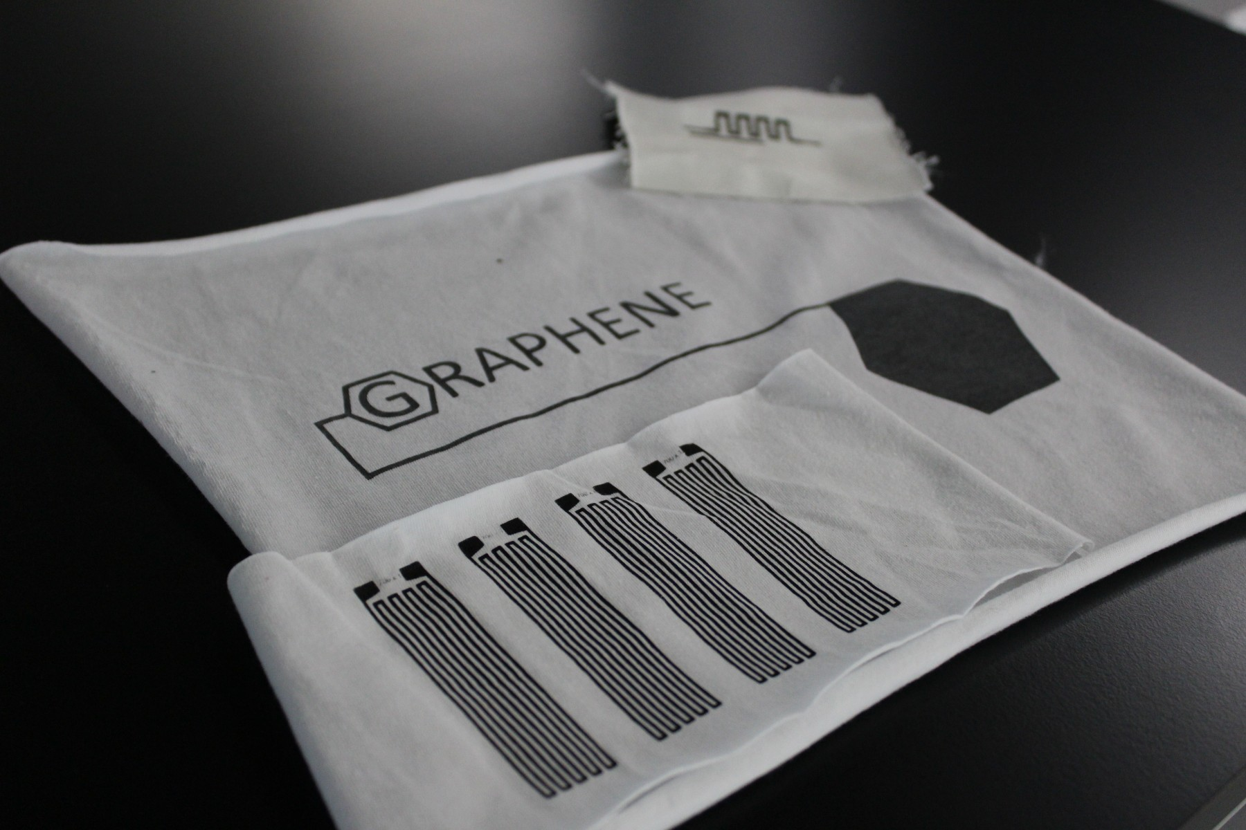 Graphene printed on cotton