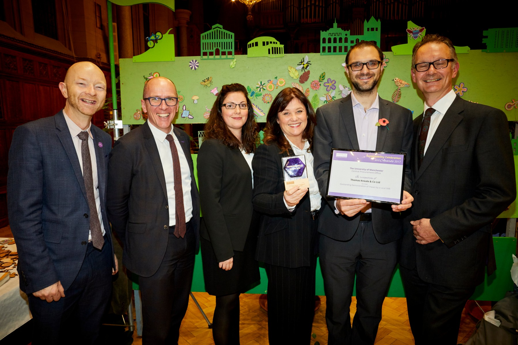 Winners at the Responsible Suppliers Awards 2017