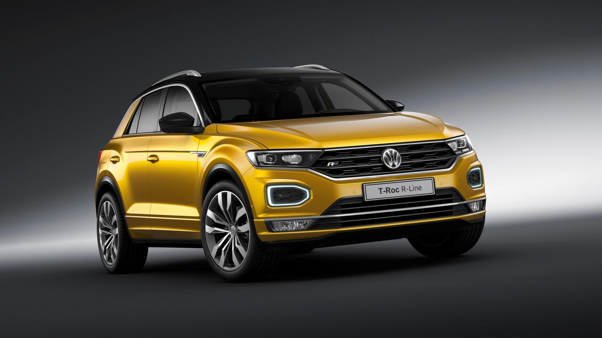 Volkswagen presenteert t roc met r line interieur en for Interieur t roc