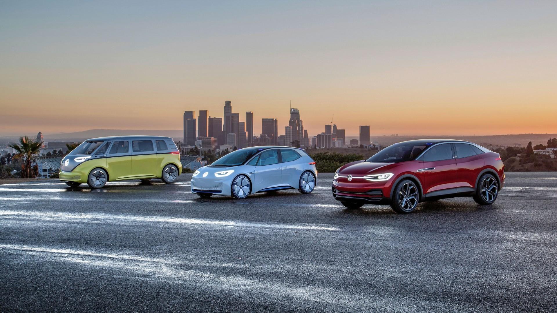 La Auto Show Volkswagen Toont Elektrische Mobiliteit Van