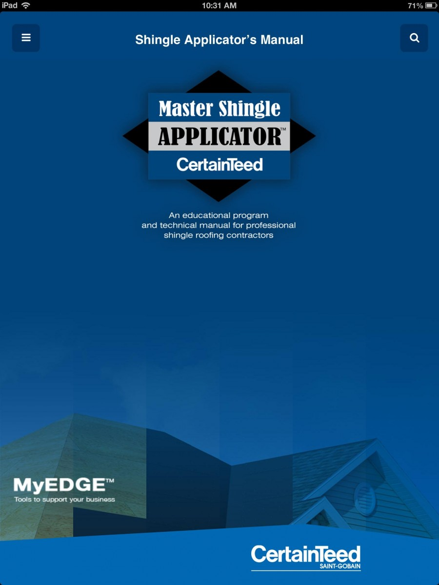 Certainteed Shingle Applicator S Manual App Now Available For Easy To Access Onsite Education