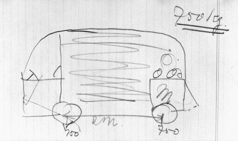 Schets Volkswagen T1 door Ben Pon