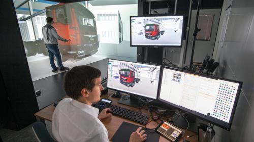 Virtuele perfectie: MAN gebruikt digitaal CAVE-laboratorium bij ontwerpen nieuwe trucks