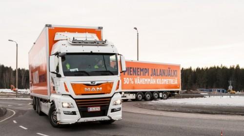Kesko Group reduceert CO2-uitstoot met extra lange MAN-trucks