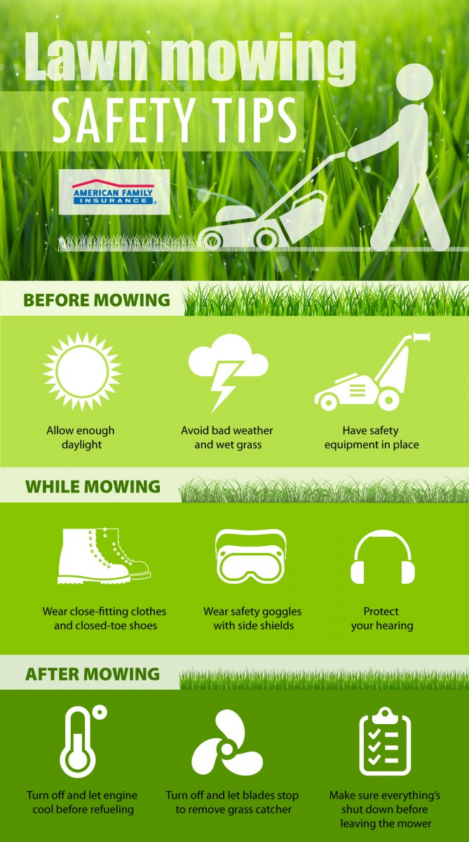 Lawn Tractor Safety : Safety tips for mowing your lawn
