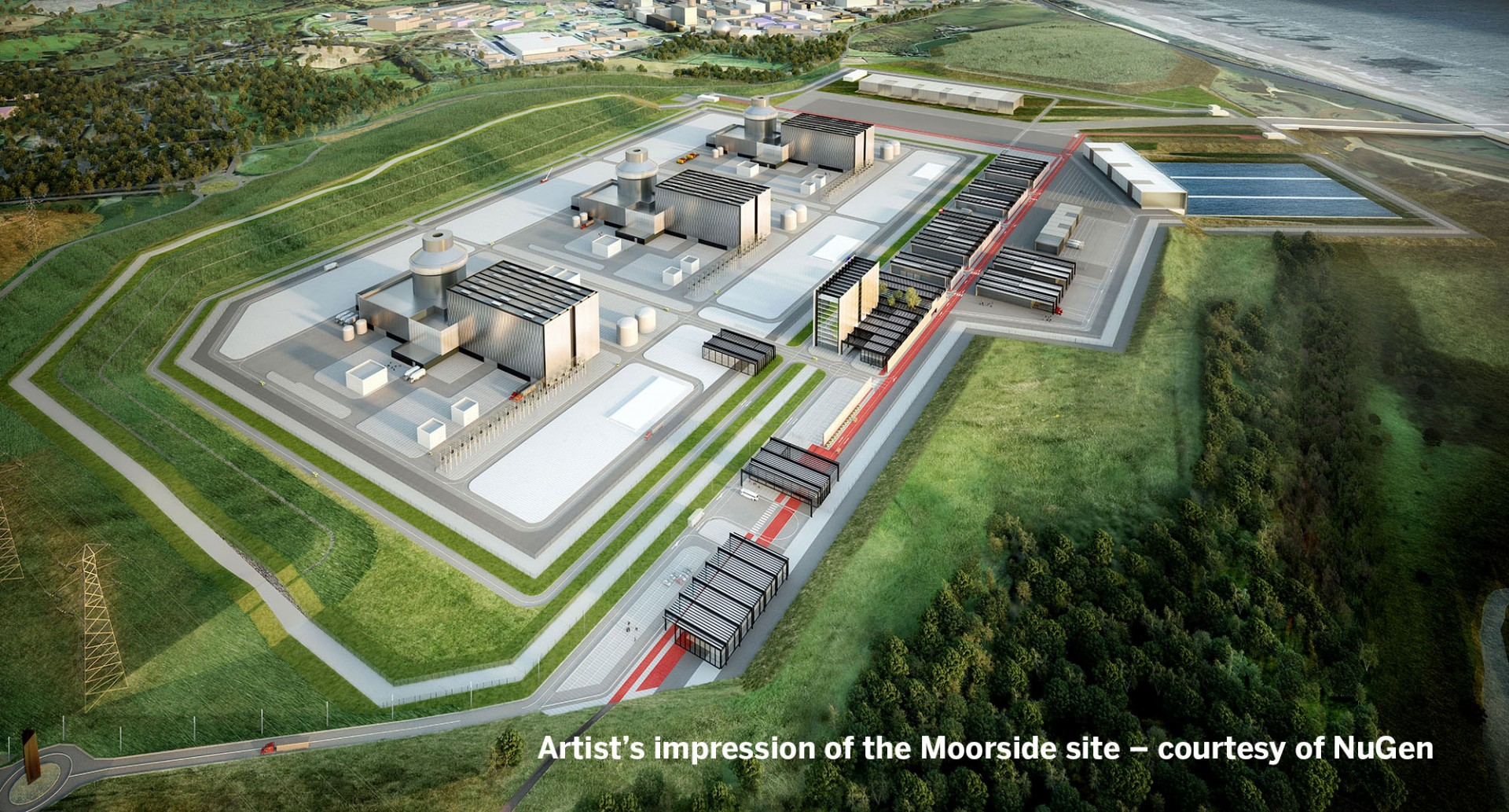 Artist's impression of the Moorside site, courtesy of NuGen
