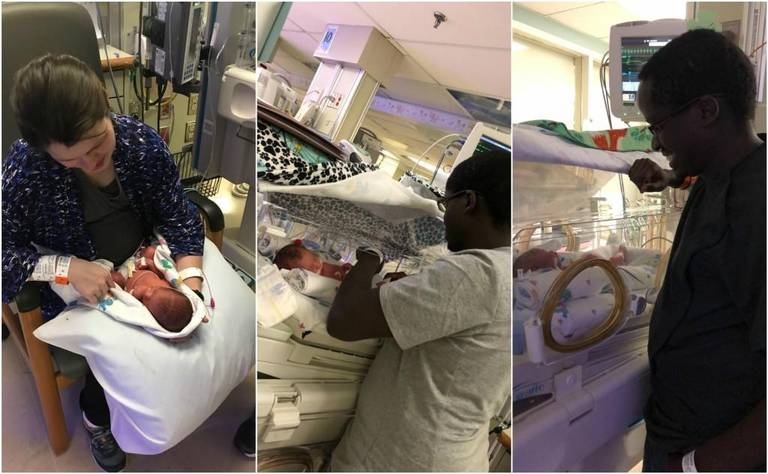 identical triplets born at TMC