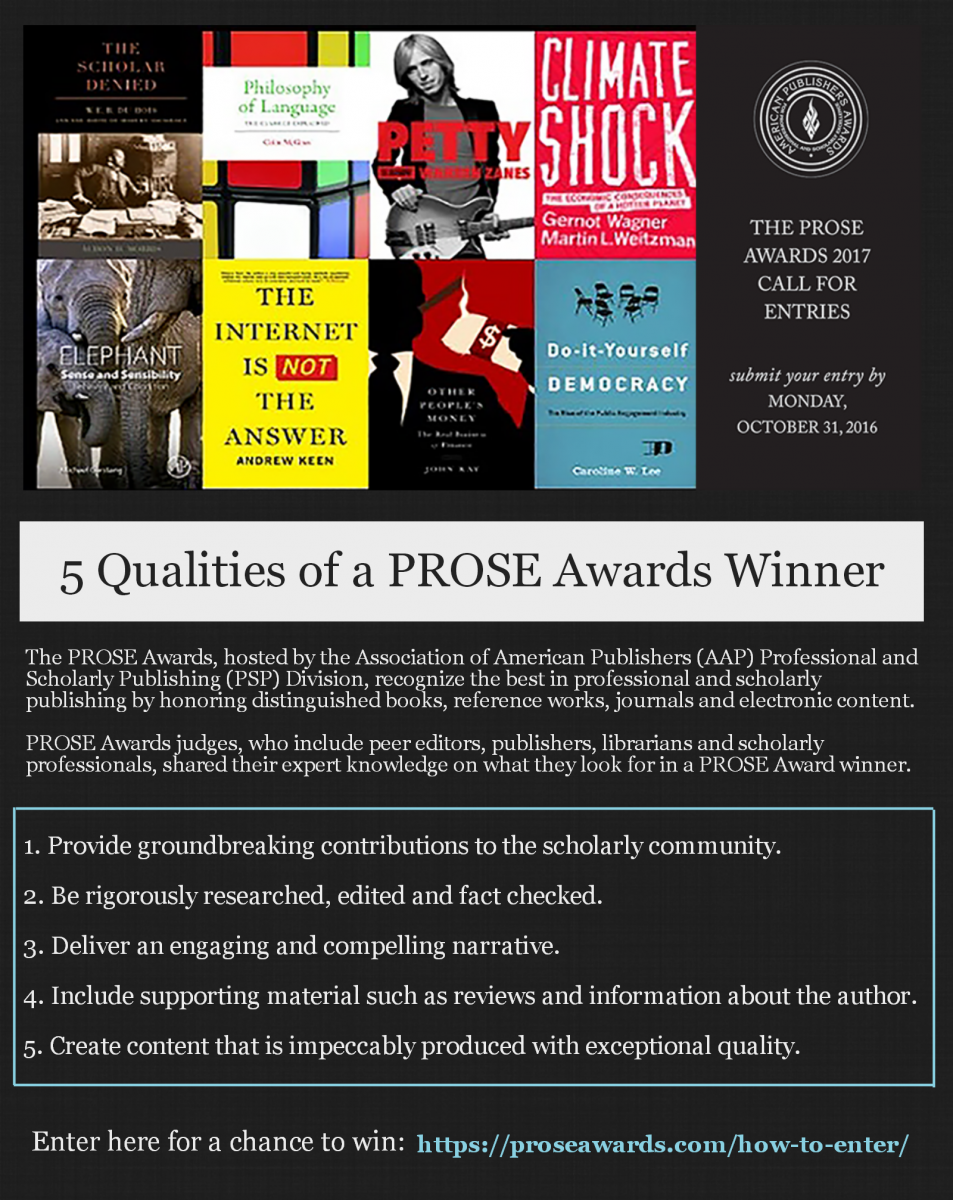 5 Qualities of a PROSE Awards Winner