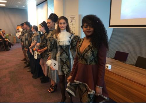 Tweedejaars student Mode Rudonica Bergonje tweede tijdens de Young Tailor Talent Trophy
