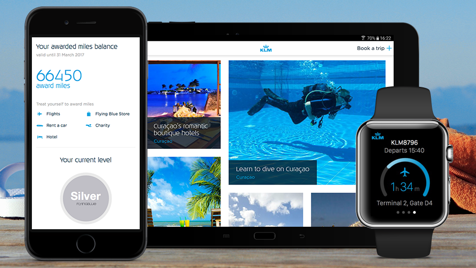 KLM restyles smartphone and tablet app