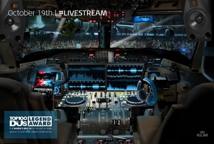 KLM nummer 1 luchtvaartmaatschappij voor DJ's