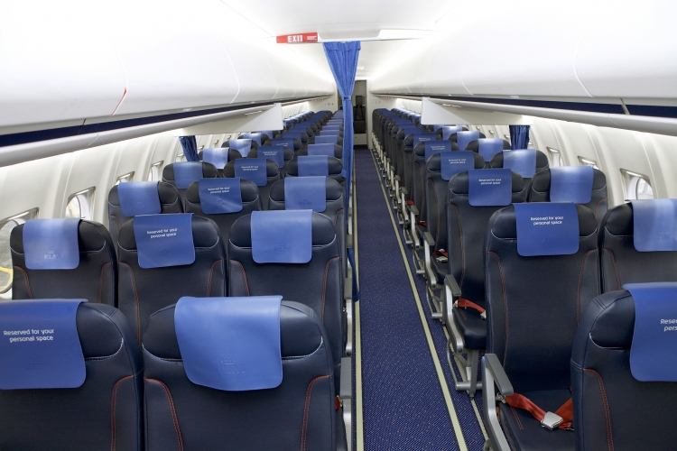 KLM equips Fokker 70 aircraft with new passenger seats