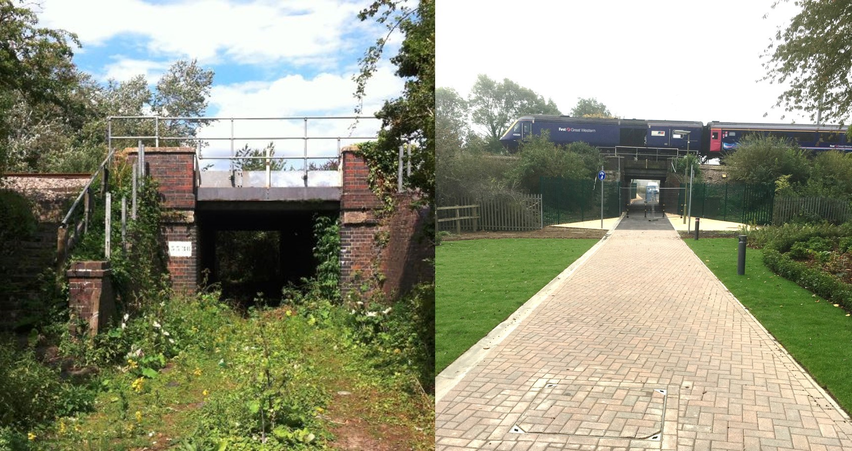 Backhill Lane Tunnel - before and after