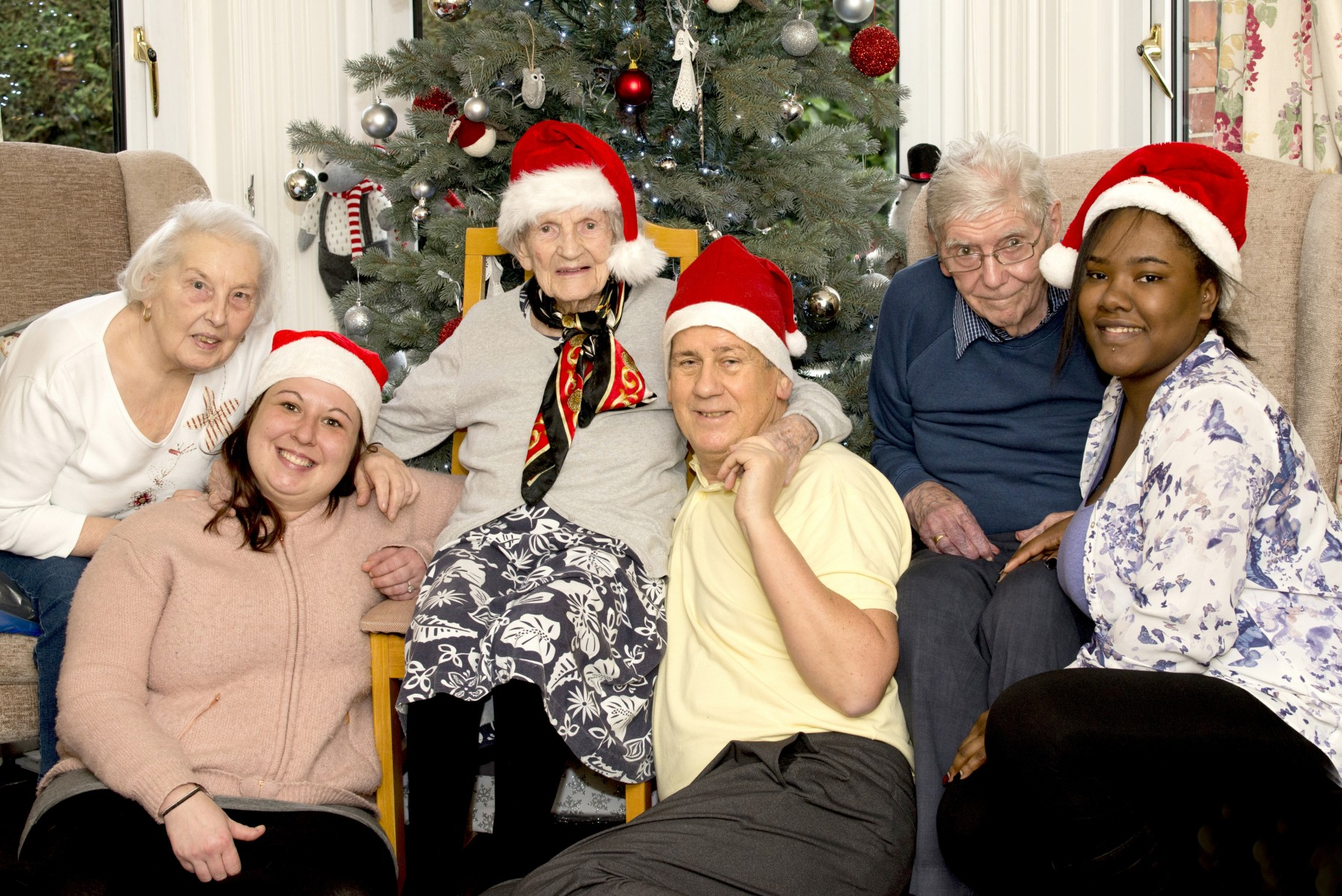 Goring care workers Christmas photo