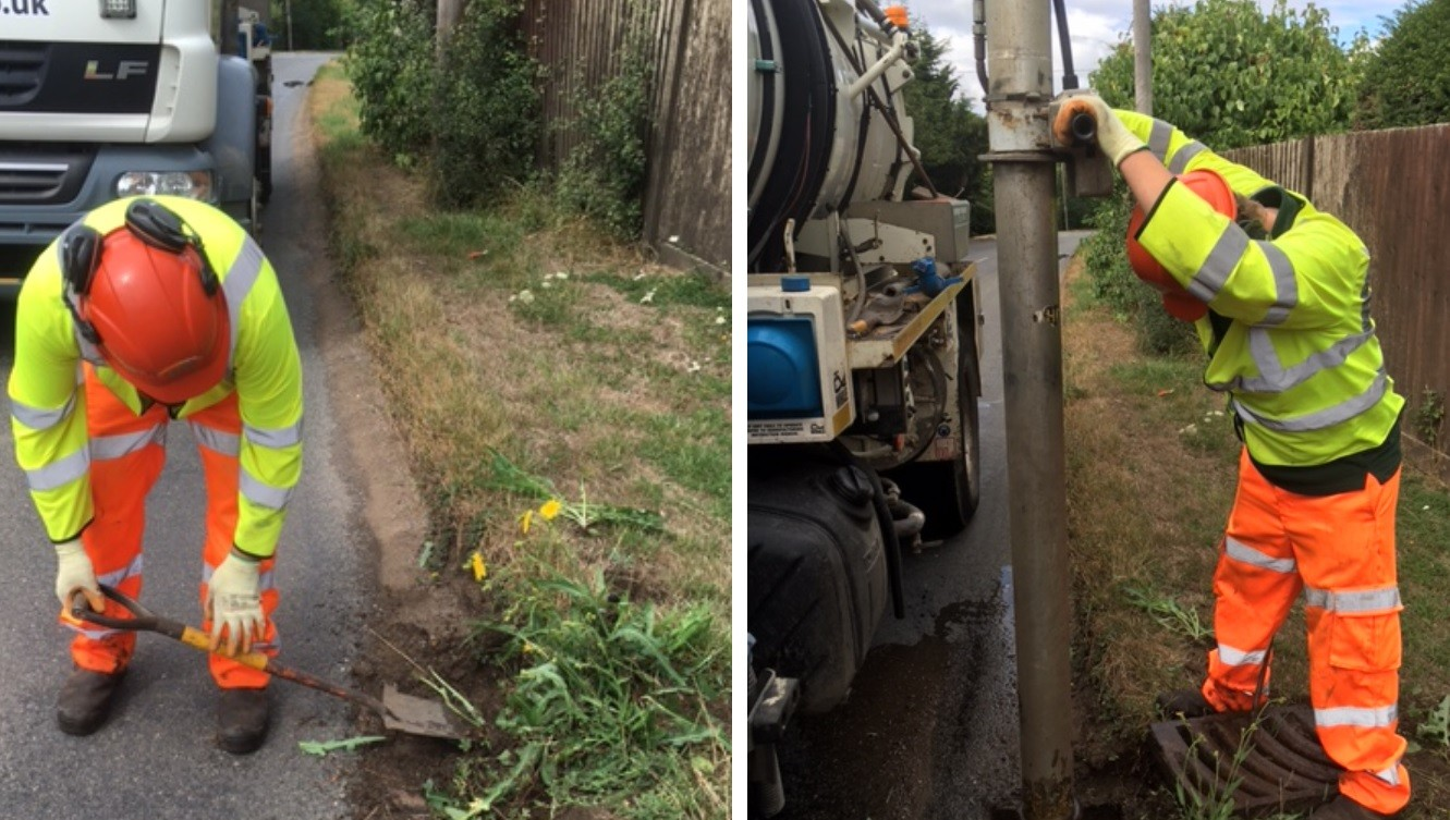 Gully cleaning HENWOOD WOOTTON