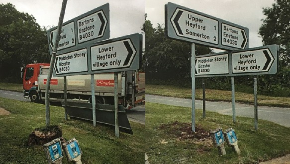 Lower Heyford signs