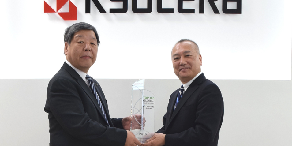 KYOCERA unter den Top 100 Global Innovators von Clarivate Analytics
