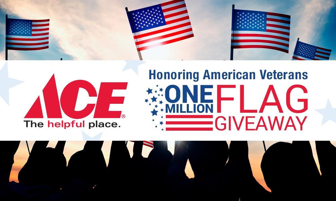 Image result for pictures of free flags from ace hardware for memorial day