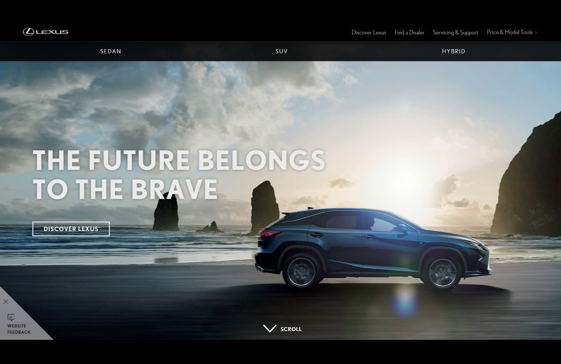 lexus india website screenshot