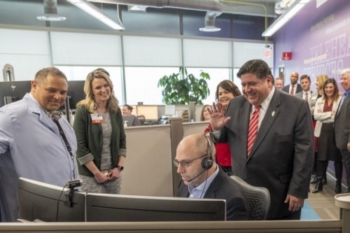 Governor Pritzker Applauds OSF Telehealth Services