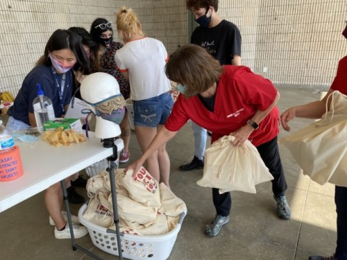 """Drama Students Produce and Present """"Circle of Care"""" Bags to Local Nurses image"""