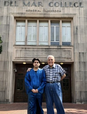 Family Tradition Continues … Grandson wearing grandfather's commencement gown 50 years after senior's graduation from DMC image