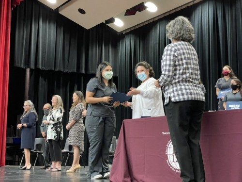 A Big Step Toward the Future … 51 Flour Bluff High School Students Receive Pins and Certificates from Continuing Ed Health Sciences Programs image