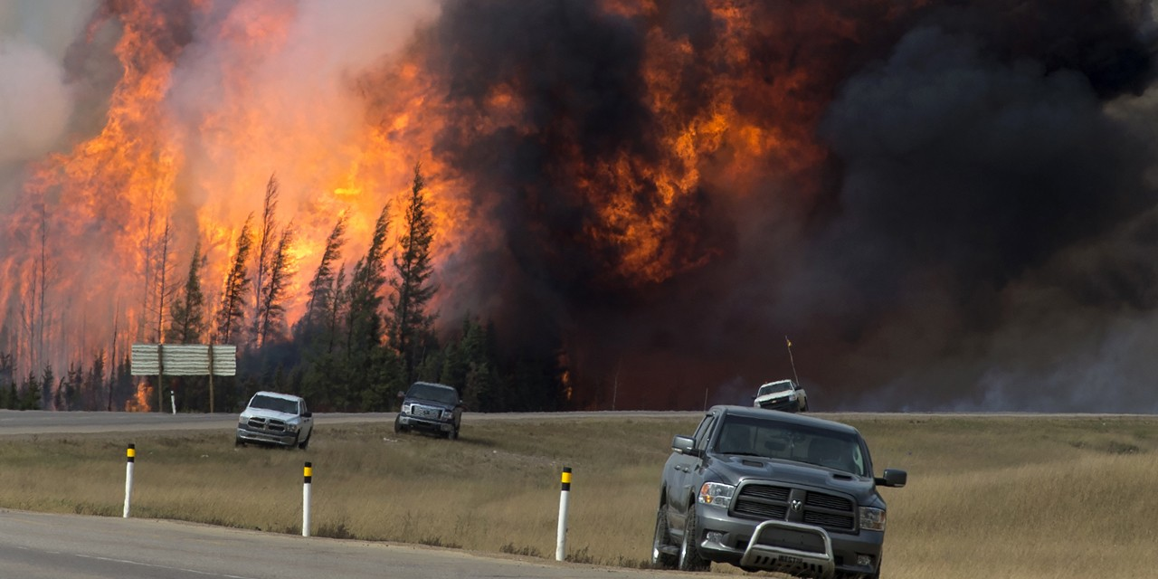 The Fort McMurray wildfires of 2016 brought untold levels of destruction and hardship, however a UAlberta study has found resiliency has risen out of the ashes.   (Photo courtesy Government of Alberta  via Flickr, Creative Commons)