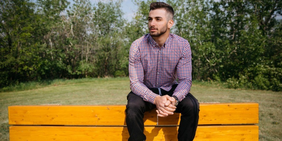 "Engineering student Imad Bazzi lost his home, class work and savings to the Fort McMurray wildfire. ""I wouldn't want this to be a reason I don't go back to school,"" he says. (Photo: Ryan Whitefield)"