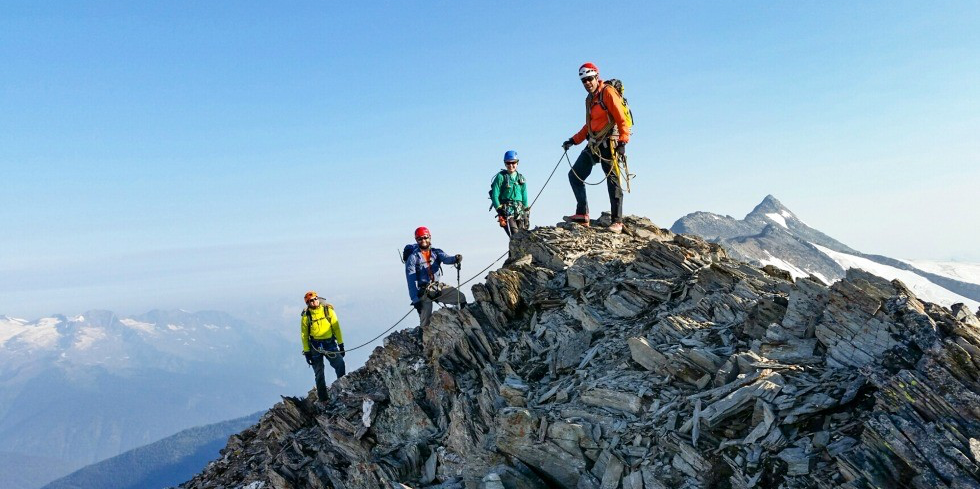 UAlberta students ascend a peak during a mountain backcountry field skills course held last summer in the Purcell Mountains of British Columbia. (Photos: Zoltan Kenwell)