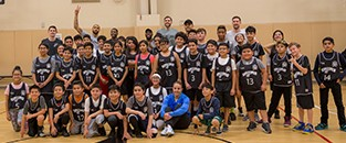 San Antonio Spurs Surprise Youth at Wesley Health & Wellness Center