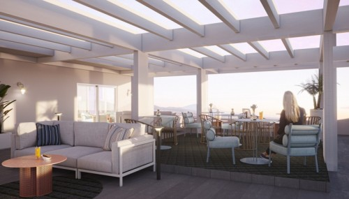 Rooftop terrace at OCÉANO (rendering)