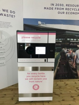 Wimbledon's first reverse vending machine serves up sustainability for tennis fans