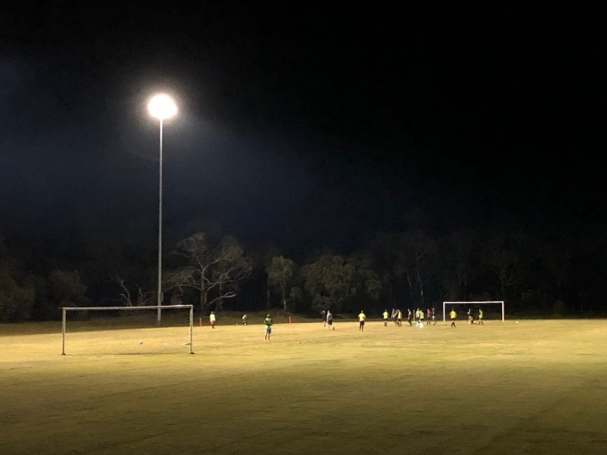 New+lighting+at+Inverloch%26rsquo%3Bs+Thompson+Reserve+means+that+all+teams+from+the+Inverloch+Stars+Soccer+Club+can+now+train+on+their+home+ground+under+lights.
