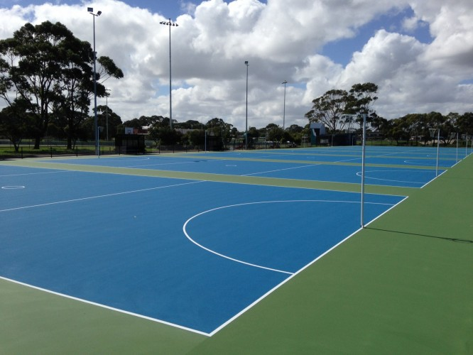 New+Wonthaggi+netball+courts+ready+for+action
