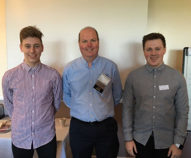 James Worville, Andy Lane and Zander White from EE