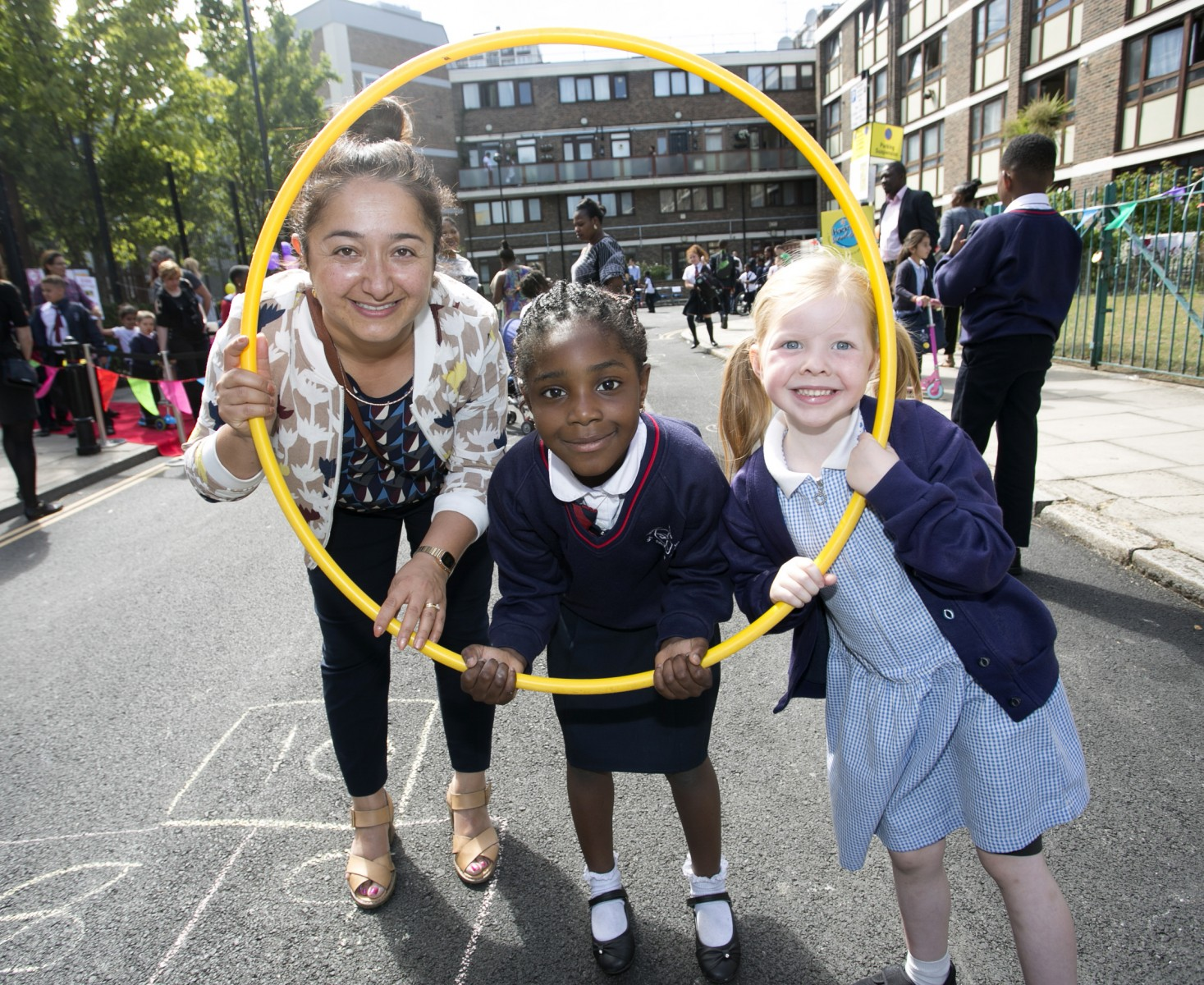 Cllr Feryal Demirci at St John the Baptist School Street, which has now been made permanent. Picture - Hackney Council
