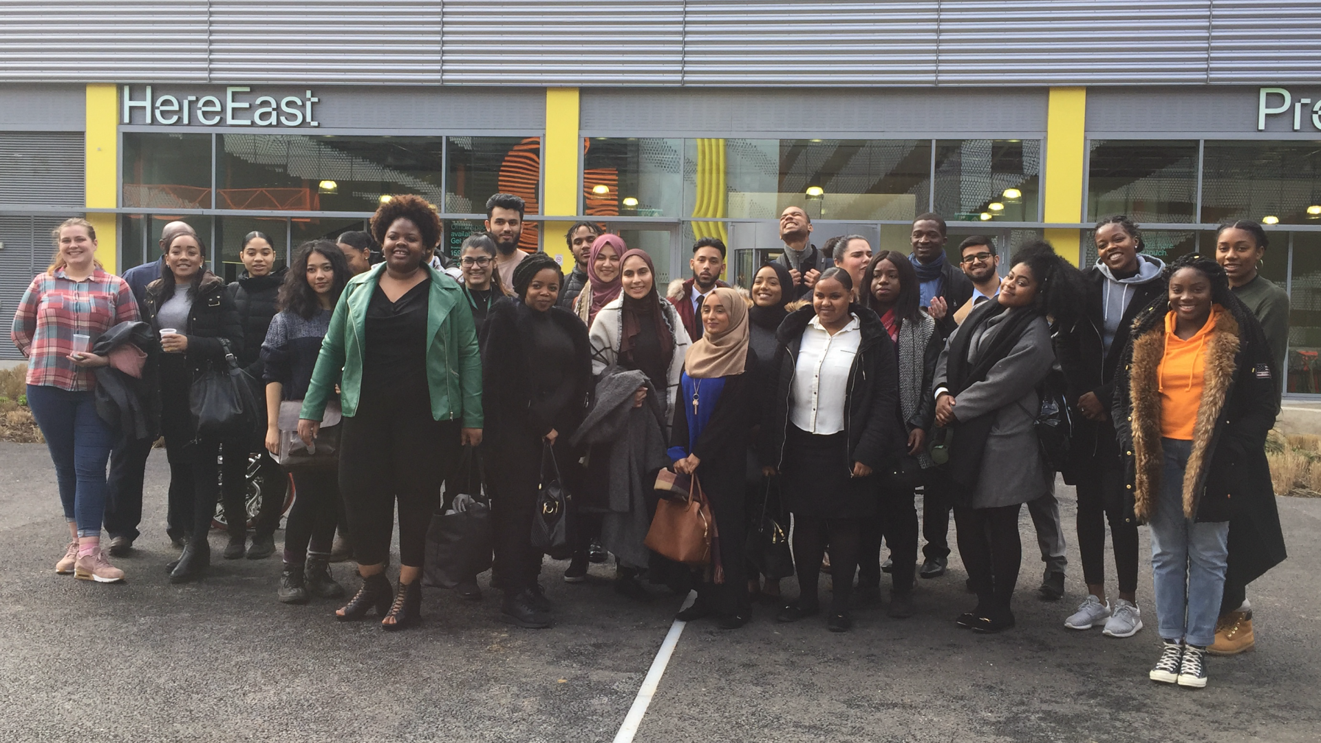 Hackney Apprentices on a recent visit to HereEast
