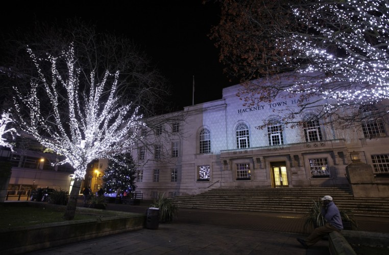 Hackney+Town+Hall+Christmas+lights