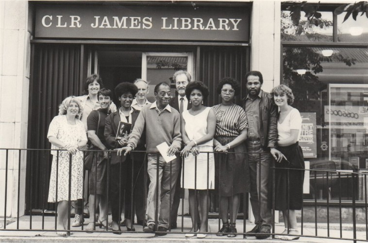 Hackney+History+Walks+-+James+Baldwin+visits+CLR+James+Library+1985