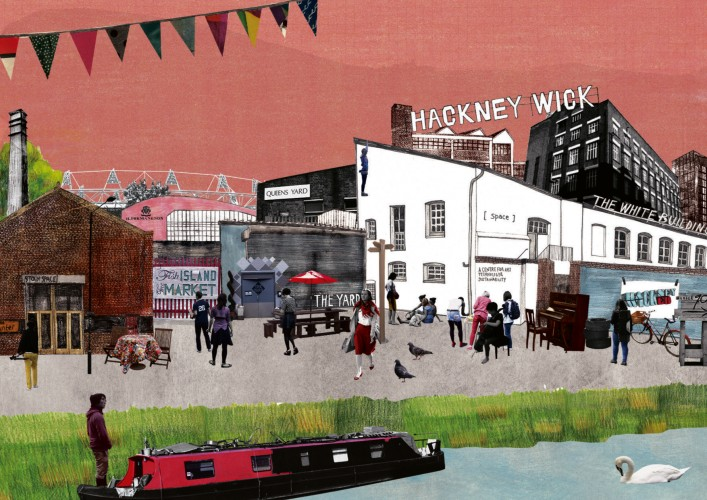 Hackney+Wick+by+artist+Lucy+Dalzell+