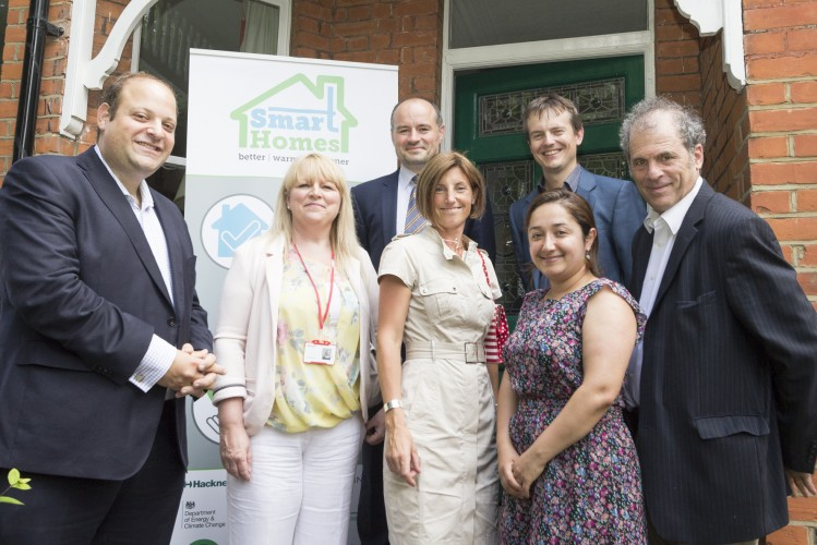 Cllr+Feryal+Demirci+%28front%2C+second+from+right%29+launches+the+Smart+Homes+programme