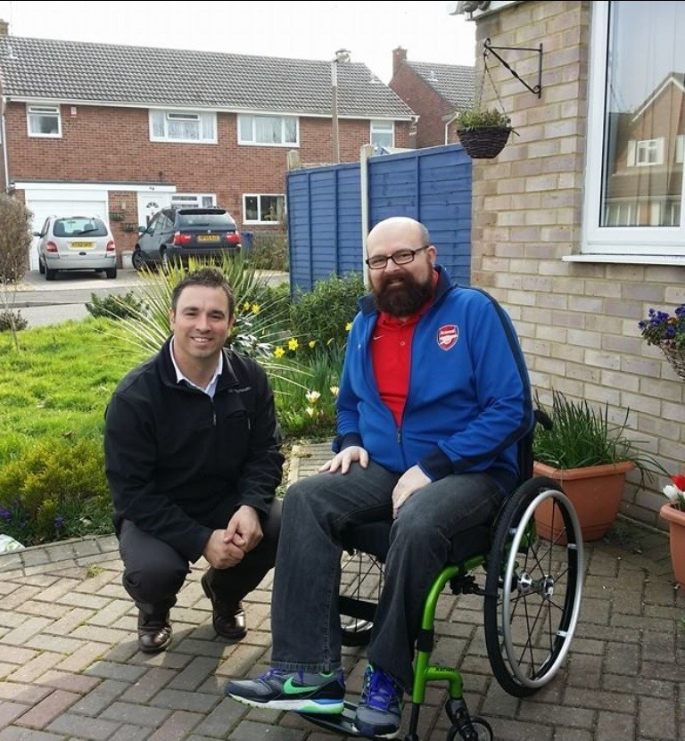 Chris Welch wheelchair delivery